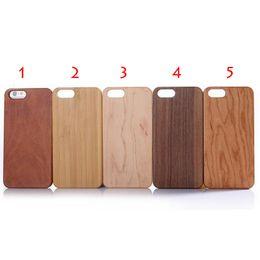 cubiertas de manzana i5 Rebajas PARA iPhone7 7 plus Fundas para iPhone Estuche ajustado de bambú de madera Cubiertas traseras duras con ranuras para botones 5 colores Fit i5 i6 i6Plus DHL gratuito SCA064