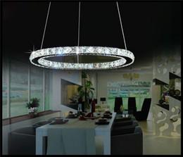 Wholesale Decoration Items Crystal - 110-230V D30 D40 D50 D60 D70cm LED Lamps Crystal Pendant Lights Decoration lamps Stair lighting Ring Led lamparas colgantes chandeliers item
