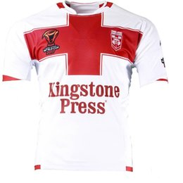 Wholesale England Home Jersey - ENGLAND RUGBY LEAGUE WORLD CUP 2017 HOME JERSEY size S-3XL 2017 new arrival rugby jerseys England top quality hot sales rugby shirts