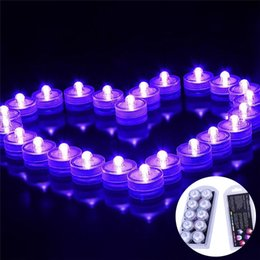 Wholesale Underwater Sub - Underwater Night Lights LED Candle Lights Submersible Tea Light Waterproof Candle Underwater Tea Light Sub Lights Battery for Wedding Party