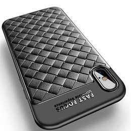 Wholesale Iphone Linear Case - linear unit woven plaid TPU silicone lembut cover for iphone X kasus for iphone X ditambah tutup pengiriman gratis