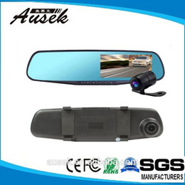 Wholesale Dvr Mirror Park - 2015 Real Car Dvr 4.3 Inch 140 Degree Wide Angle Parking Mode Hd 1080p Best Rearview Mirror Vehicle Traveling Data Recorder Quality Assured
