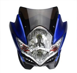 Wholesale Street Fighter Motorcycle Head Light - PAZOMA UNIVERSAL STREETFIGHTER STREET FIGHTER MOTORCYCLE BIKE HEADLIGHT HEAD LIGHT LAMP NEW FITS RX125D 125SM RT1250