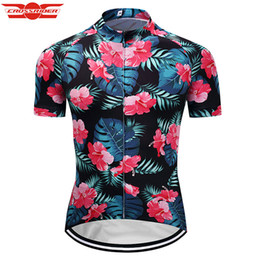 Wholesale Crossrider homens retro ciclismo jersey engraçado mtb bicicleta clothing bicicleta desgaste bela flor roupas curtas hombre verano