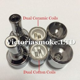 Wholesale Ego Core Metal - D-CORE double coils wax atomizer Ceramic Cotton rob wax vaporizer dual heating coils wax cartomizer e cigarette ego electronic Cigarette