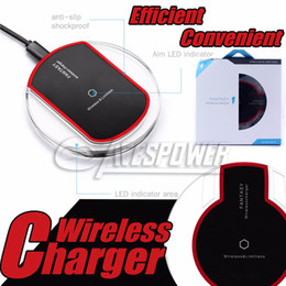 Wholesale Iphone Wireless Charge Kit - QI Wireless Power Charger Charging Pad + Receiver Kit For iPhone 7 7 Plus 5 5S 6 6S Plus