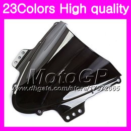 Wholesale Gsx K5 - 23Colors Windscreen For SUZUKI GSXR-1000 GSXR1000 05 06 GSXR 1000 06 GSX R1000 K5 2005 2006 Chrome Black GPear Smoke Windshield