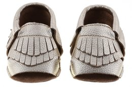 Wholesale genuine leather baby boots - new genuine leather baby open toe mocassions baby moccasins tassels boot booties infant cow leather 2layer tassel walking shoes