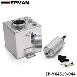Wholesale Surge Tanks - EPMAN 2L Sliver Billet Aluminum Fuel Surge Tank +1PC High Quality External 044 Fuel Pump EP-YX4519-044
