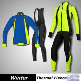 Fluo radfahren trikot online-Wholesale-New GORES Winter Thermo-Fleece-Radtrikot abbigliamento ciclismo 2015 in der Nacht ropa ciclismo invierno fluo blau gelb