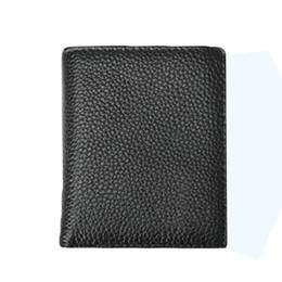 Wholesale Long Bi Fold Wallet - S5Q Mens Stylish Simplicity Waterproof Cowhide Leather Bi Fold Mini Wallet Purse AAAFIN