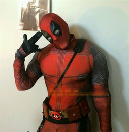 2019 cosplay catsuit deadpool 2016 Nouveau HOT The Avengers Deadpool Cosplay Costumes Zentai Catsuit Costumes Hommes Lycra Respirant Collants Fantaisie costumes