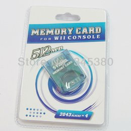 Wholesale Memory Cards 512mb - 10pcs  lot High quality FOR wii MEMORY CARD For nintendo For WII 512MB Memory Storage Card Save Saver Full Capacity High Speed free shipping