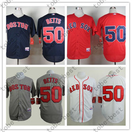 Wholesale Cheap Authentic Cool Base Jersey - Boston Red Sox Jerseys 50 Mookie Betts Jersey White Red Grey Cool Base Shirt Stitched Authentic red sox Baseball Jersey Cheap