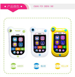Wholesale Touch Type Phone - Free shipping toy-phone fashional Children's educational toys smart phone touch screen music phone baby stop crying artifact