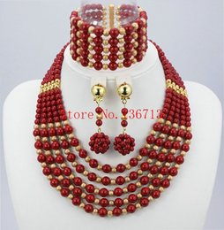 Wholesale Copper Plating Plastic - 2016 Latest African Wedding Coral Beads Jewelry Set African Nigeria beads jewelery Sets for Free Shipping TT102-9