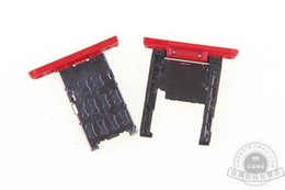 Wholesale micro sim slot replacement - Wholesale-100% Original SIM Card Tray Slot for Nokia Lumia 1520 Micro SD Memory Nano Card Tray Slot Holder Metal Replacement Spare Parts