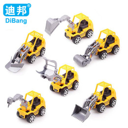 Wholesale Model Cars Children - 6pcs set Brand Construction vehicles truck model toy cars for children Model Toy Quality plastic Holiday Christmas gift
