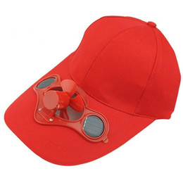 Wholesale Novelty Solar Fan - New Arrival Solar Power Fan Hat Cap with Cooling for Outdoor Golf Baseball For Sale EB-B4308