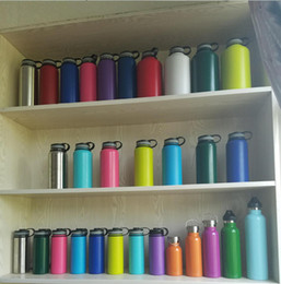 Wholesale Insulated Cap - Hot!!! 18oz 32oz 40oz Vacuum Insulated Stainless Steel Water Bottle Wide Mouth Cap Sports Hydration Gear Cup travel water bottles