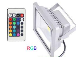 Canada 20W RGB LED Projecteur AC85-265V Lampes Carrées Ampoule IP65 Étanche avec 24 Touches Télécommande IR 16 Couleurs Changeant de Projecteurs CE ROSH supplier ir light bulbs Offre