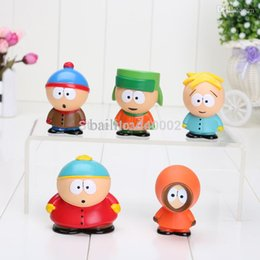 Wholesale Plush Toy Pack - Wholesale-1Set New South Park Stan Kyle Eric Kenny Leopard Mini PVC Action Figure Toys Dolls New Packed In Box Christmas Gifts For Kids