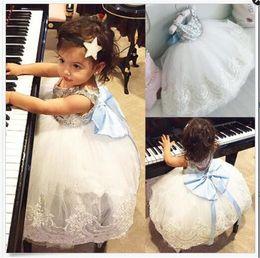 Wholesale Girls Rainbow Chiffon Dress - Girl lace paillette camisole dress kids baby princess party bowknot Rainbow colors sleeveless tutu Dress skirt B11