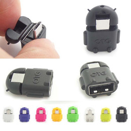 Wholesale Otg Cable Galaxy - Micro USB to USB Android Robot shape for OTG Adapter for smartphone Micro OTG Cable Adapter For Samsung Galaxy S3 S4 S5 Note 2 3 4 Note4