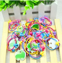 Wholesale Baby Hair Rubber Ponytail - Wholesale- New Hot 50 Pcs Children Elastic Hair Bands Baby Mini Rubber Band Hair Rope Ponytail Holder for Kids Girl