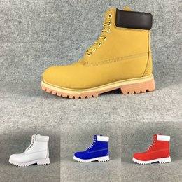 Wholesale White Fur High Heel Boots - Winter men women waterproof outdoor boots brand couples genuine leather warm snow boots casual Martin boots hiking outdoor sports shoes