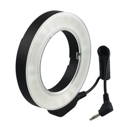 Wholesale Led Ring Flash Dslr - Hot Selling 48 pieces Macro LED Ring Flash Light for Canon Nikon Pentax Olympus Panasonic DSLR Camera Free Shipping