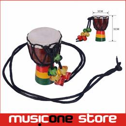 MINI Jambe Drummer En Venta Djembe Percussion Instrumento Musical Tambor Africano Mano Nueva Marca al por mayor Envío Libre MU1220 desde fabricantes