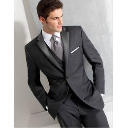 5 Suite de oficina de alta calidad para hombres personalizada Juego de boda  de esmoquin para novio 2 conjuntos (chaqueta + pantalón) por encargo da95467d15ff