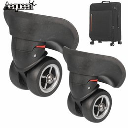 Wholesale replacement luggage wheels - wholesale  1Pair Luggage Wheels Repair Replacement Luggage Wheels 360 Degree Swivel Spinner Suitcase Caster Wheels Repair Whee