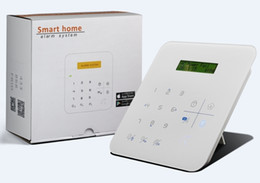 Wholesale Gsm Alarm Work - A9 GSM+ wifi Alarm System Smart touch keypad with 2 line message LCD display Quad-band GSM communication works with SIM card