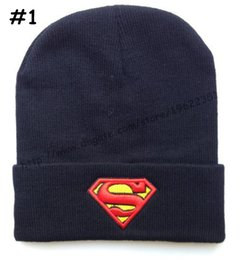 Wholesale Superman Beach - Superman Beanies Hats Hip-Hop winter Cotton knitted warm caps Snapback hat for man and women