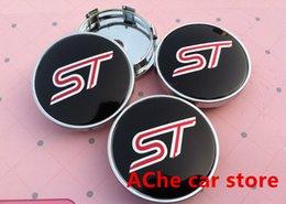 Wholesale Acura Center - badge logo 4pcs Free shipping 60mm ST car emblem Wheel Center Hub Caps Dust-proof Badge logo covers car styling