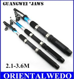 Wholesale Telescopic Rods Sale - HOT SALE!! GW guangwei shark 2.1 2.4 2.7 3.0 3.6 m 6 segments telescopic carbon fishing rods casting spinning fishing rod free shipping