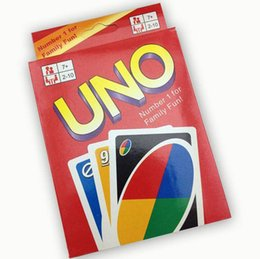 Wholesale Big Funny Cards - 2015 270g UNO poker card standard edition family fun entermainment board game Kids funny Puzzle game