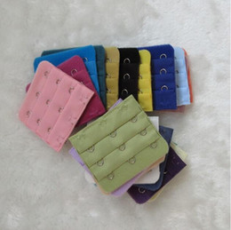 Wholesale Wholesale Sewing Notions - Women brassiere 3 Rows 3 Hooks Bra Extenders 5.8CM X 5CM back buckle Clasp Strap Sewing Notion Tools Intimates Accessories