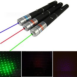 Wholesale Stylish Pens - 2in1 5mw Green Red Purple Blue Laser Pointer Pointers Starry Star Beam Point Pen Pens Stylish Disco Party Stage 532nm 650nm 405nm 455nm