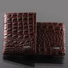 Wholesale Crocodile Money Wallets - Fashion mens leather luxury wallet crocodile grain casual short design card holder money purse clips wallets for men high quality