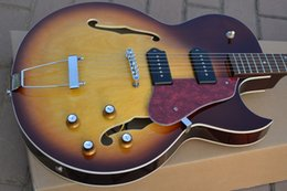 Wholesale Es Jazz Guitars - 1959 es 225 guitar Vintage Burst high quality complete Hollow body jazz electric guitar free shipping
