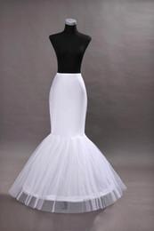 Wholesale Hoops For Mermaid Wedding Dresses - in Stock Cheap One Hoop Flounced Mermaid Petticoats Bridal Crinoline For Mermaid Wedding Prom Dresses Wedding Accessories