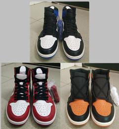 Wholesale Basketball Backboards - basketball shoes retro 1 Shattered Backboard Chicago Fragment men athletic shoes