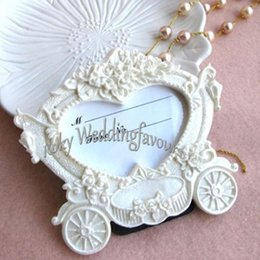 Wholesale Wedding Table Frames - Free Shipping! Fairy Theme Carriage Photo Frame, Place Card Holder Favors, Party Decoration Gifts, Table Setting Great Items