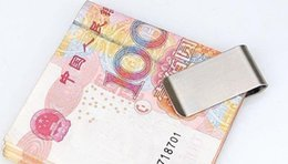 Wholesale Stainless Steel Metal Business Name - 200pcs Stainless Steel Brass Money Clipper Slim Money Wallet Clip Clamp Card Holder Credit Name Card Holder