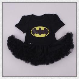 Wholesale Superman Dresses - New arrival Baby infant toddler Superman Superwomen romper Onesies Dress tutu skirt lace short chiffon ruffles Batman Pajamas PJ'S bodysuits