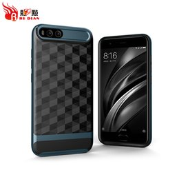 Wholesale Phone Accessories For Cheap - Cell Phone Case Direct Factory Cheap Price Luxury 2 In 1 Brush Prism Pattern Shockproof Case For Xiaomi6 Mobile Phone Cover accessories
