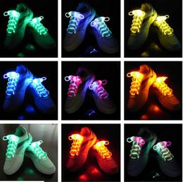 Livraison gratuite Fibre Optique LED Chaussures Lacets Lacets Néon Led forte lumière clignotant Lacet Gros! 200 pcs / lot (100 paires) ? partir de fabricateur